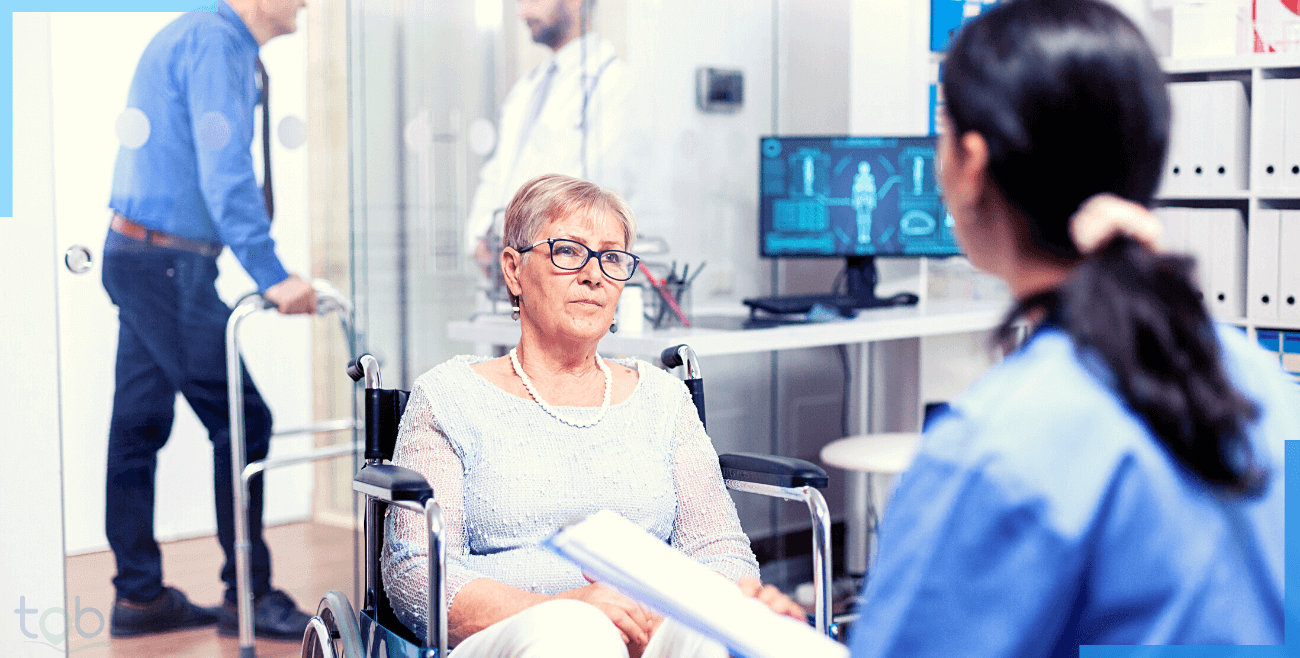 An elderly lady tasking hassle free doctor consultation